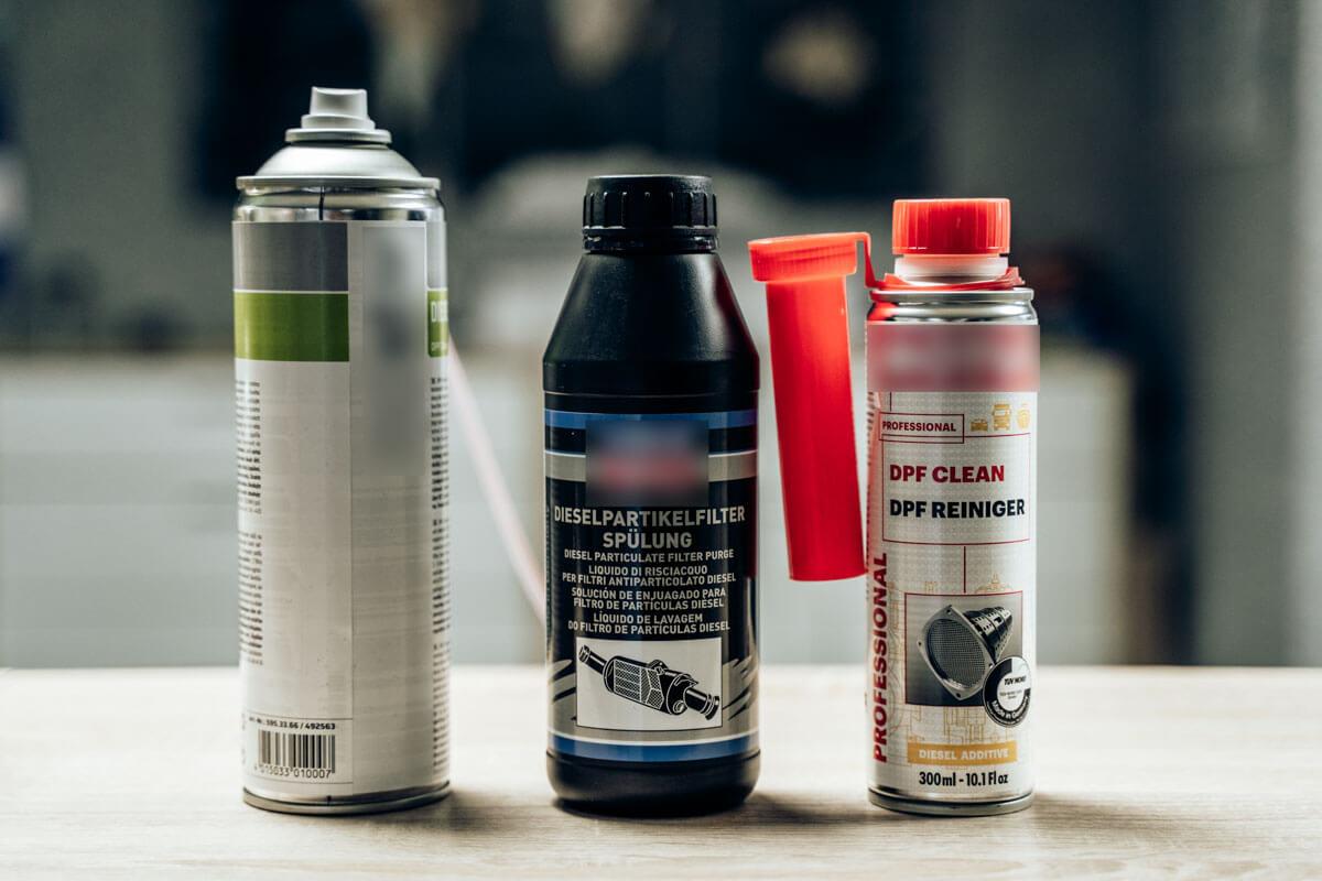 Chemische Reinigunsmittel & Additive zur Reinigung von Dieselpartikelfiltern