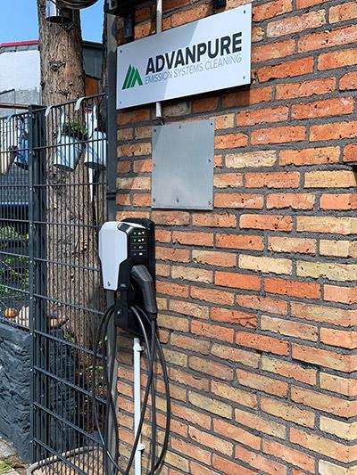 Ladestation für E-Fahrzeuge bei Advanpure
